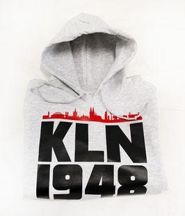 KLN 1948 rote Skyline Hoodie Grau