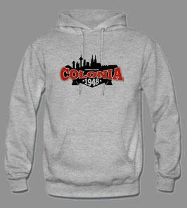 Colonia mit Skyline Hoodie Grau