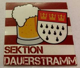 150 Köln Sektion Dauerstramm Aufkleber