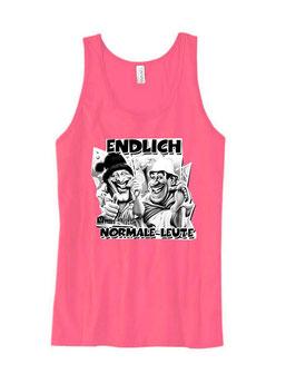 Endlich normale Leute ( 2 Köpfe Comic ) Tanktop Pink