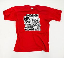 Endlich normale Leute ( 2 Comic Köpfe ) Shirt Rot