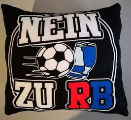 Nein zu RB Schwarz Kissen