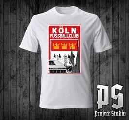 Köln Fussballclub mit Wappen Stadion und Dom Shirt