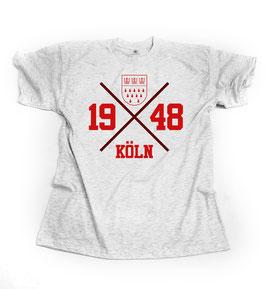 Köln Hipster Kreuz Grau Shirt