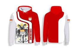 Köln Cologne Hoodie rot weiss