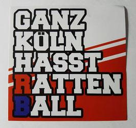 150 Ganz Köln Hasst Rattenball Aufkleber