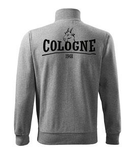 Köln Geissbock Grau Sweatjacke