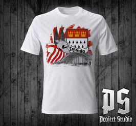 Köln Geissbock Comic +Wappen +Brücke Shirt