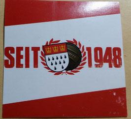 150 Köln seit 1948 Mützenmotiv 6x6 Aufkleber