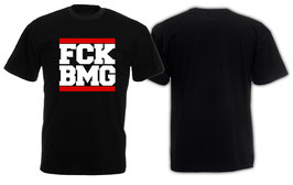 F*ck BMG roter Balken Shirt Schwarz
