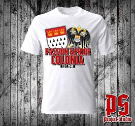 Köln Passion + Pride beide Wappen Shirt