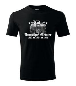 Köln Deutscher Meister Shirt Schwarz