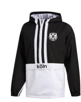 Köln Windbreaker Adler Schwarz weiss
