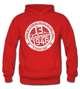 Köln 13.2.1948 Geburtstagshoodie Rot