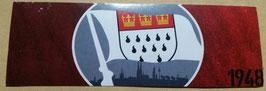 150 Köln Fahne Aufkleber