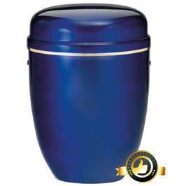 Stahl Urne kobaltblau