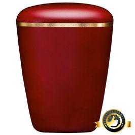 Bio Urne dreieckig abgerundet Weinrot mit Goldband