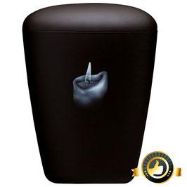 Naturstoff schwarz Airbrush - Motiv Kerze