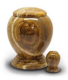 Exklusive Marmor Urne braun