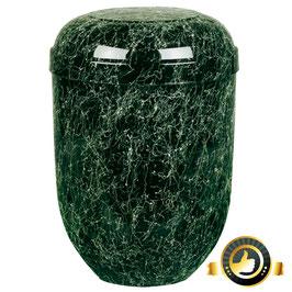 Naturstoff Urne modern grün marmoriert