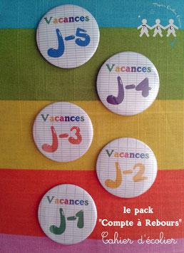"""Pack """"Compte à rebours"""" Cahier d'écolier"""