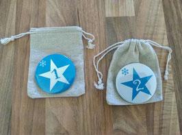 """Calendrier de l'avent """"badge"""" bleu"""
