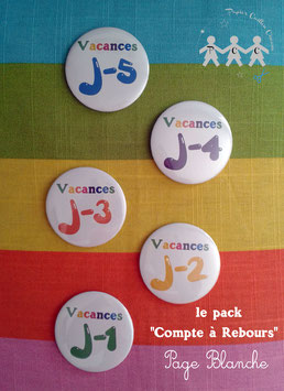 "Pack ""Compte à rebours"" Page Blanche"