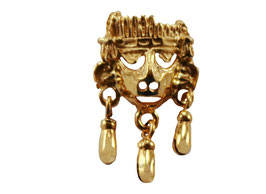Small Xipe Totec Mask with Bells