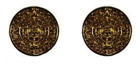 Medium Aztec Calendar Earrings