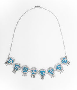 Chimalli with bells Necklace