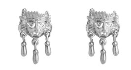 Small Xipe Totec Mask Earrings with bells