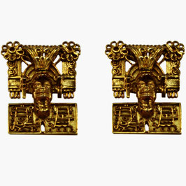 God of the dead Pectoral Earrings