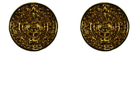 Small Aztec Calendar Earrings