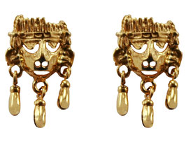 Small Xipe Totec with Bells Earrings