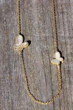 Halskette BUTTERFLY vergoldet