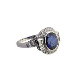 Saphire Diamant Ring