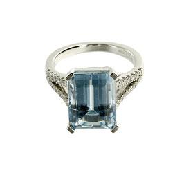 Aquamarin Diamant Ring,