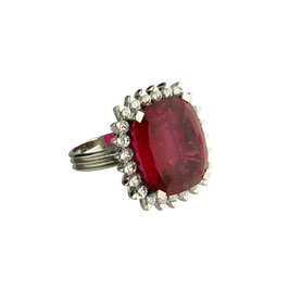 Rubellit Diamant Ring