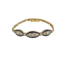 Diamant Saphire Armband