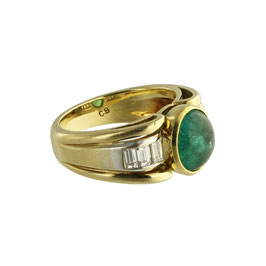 Smaragd Diamant Ring, signiert Bucherer