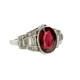 Spinel Diamant Ring