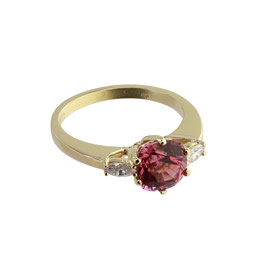 Spinell Diamant Ring