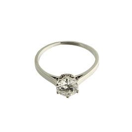 Diamant Solitär, signiert Baltensperger