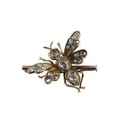 Antike Diamant Bienenbrosche, Viktorianische