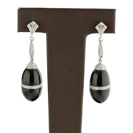 Onyx Diamant Ohrgehänger