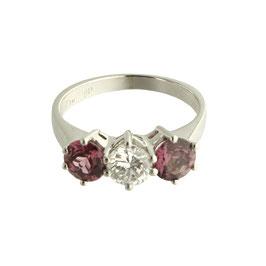 Granat Diamant Ring