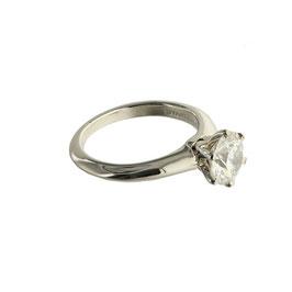 TIFFANY Diamant Solitär Ring, signiert Tiffany & Co.