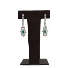 Smaragd Diamant Ohrgehänger