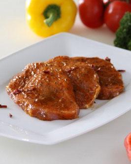 Rückensteak (Lachssteak) Paprika