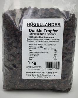 Dunkle Tropfen - Schokoladenkuvertüre